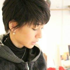 小顔 ベリーショート こなれ感 黒髪 ヘアスタイルや髪型の写真・画像