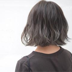 外国人風 ボブ 暗髪 バレイヤージュ ヘアスタイルや髪型の写真・画像