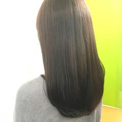 コンサバ ロング 大人かわいい 暗髪 ヘアスタイルや髪型の写真・画像