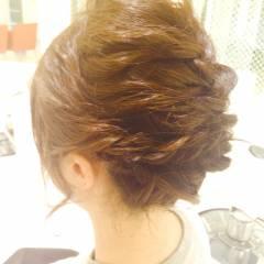 ルーズ ショート アップスタイル ナチュラル ヘアスタイルや髪型の写真・画像