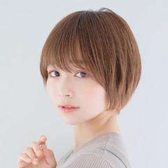 ナチュラル ショートヘア 丸みショート ショート ヘアスタイルや髪型の写真・画像
