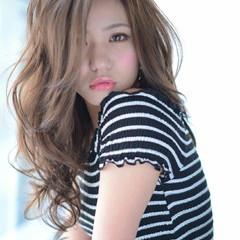 外国人風 セミロング 愛され モード ヘアスタイルや髪型の写真・画像