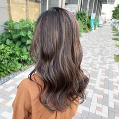 セミロング ハイライト ストリート 3Dハイライト ヘアスタイルや髪型の写真・画像