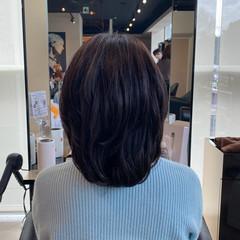 お手入れ簡単!! レイヤーカット ミディアムレイヤー ミディアム ヘアスタイルや髪型の写真・画像