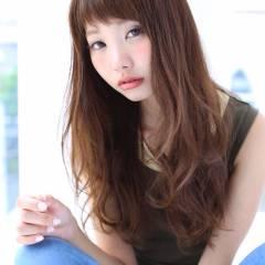 パンク 抜け感 ロング シースルーバング ヘアスタイルや髪型の写真・画像