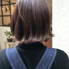 フェミニン ゆるふわ ボブ アンニュイ ヘアスタイルや髪型の写真・画像