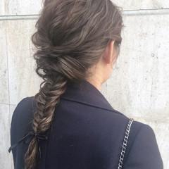 アンニュイ グレージュ ナチュラル バレンタイン ヘアスタイルや髪型の写真・画像