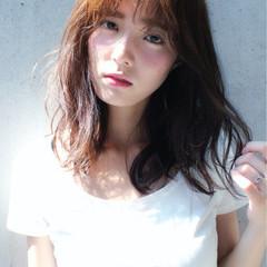 ミディアム ナチュラル ピュア 外国人風 ヘアスタイルや髪型の写真・画像