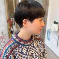 モード 切りっぱなしボブ ショートボブ ミニボブ ヘアスタイルや髪型の写真・画像