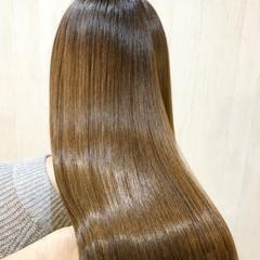 ロング トリートメント 大人可愛い 髪質改善 ヘアスタイルや髪型の写真・画像