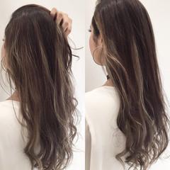 モード アッシュ グレージュ 外国人風 ヘアスタイルや髪型の写真・画像