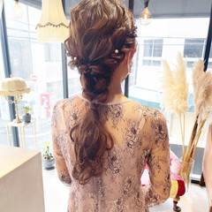 編みおろし 編みおろしヘア 結婚式ヘアアレンジ ヘアアレンジ ヘアスタイルや髪型の写真・画像