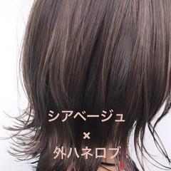 ショートボブ ニュアンスヘア ボブ 切りっぱなしボブ ヘアスタイルや髪型の写真・画像