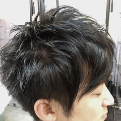 ボーイッシュ 無造作 モード ショート ヘアスタイルや髪型の写真・画像
