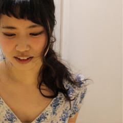 ゆるふわ ロング ナチュラル 簡単ヘアアレンジ ヘアスタイルや髪型の写真・画像