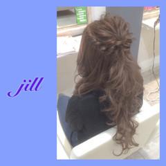 エクステ ねじり ロング 簡単ヘアアレンジ ヘアスタイルや髪型の写真・画像