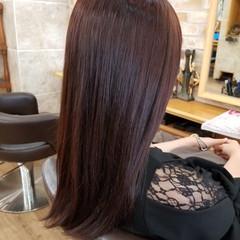 デート フェミニン グラデーションカラー セミロング ヘアスタイルや髪型の写真・画像