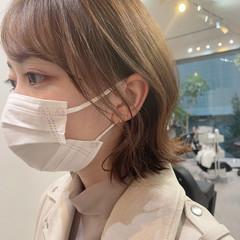 韓国ヘア 外ハネボブ 韓国 ボブ ヘアスタイルや髪型の写真・画像