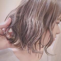 ストリート ヘアアレンジ ハイライト ボブ ヘアスタイルや髪型の写真・画像
