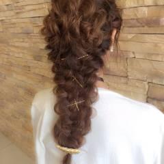 ロング 結婚式 ヘアアレンジ グラデーションカラー ヘアスタイルや髪型の写真・画像