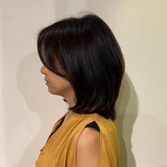 レイヤーカット エレガント ミディアムレイヤー 艶髪 ヘアスタイルや髪型の写真・画像