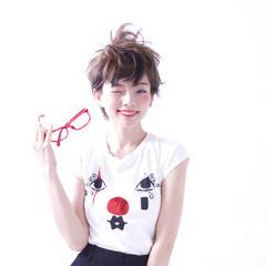 キュート ショート ガーリー ラフ ヘアスタイルや髪型の写真・画像