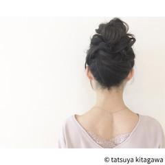 ヘアアレンジ セミロング 花嫁 お団子 ヘアスタイルや髪型の写真・画像