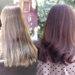 ピンクベージュ 外国人風カラー ピンク エレガント ヘアスタイルや髪型の写真・画像