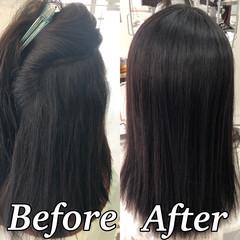 縮毛矯正 ツヤ髪 髪質改善トリートメント 美髪 ヘアスタイルや髪型の写真・画像
