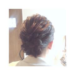 ゆるふわ ヘアアレンジ 編み込み パーティ ヘアスタイルや髪型の写真・画像