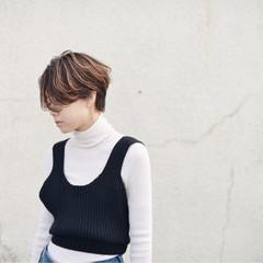 秋 ストリート ハイライト 外国人風 ヘアスタイルや髪型の写真・画像