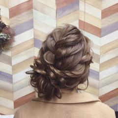 ロング アップスタイル ブライダル パーティ ヘアスタイルや髪型の写真・画像