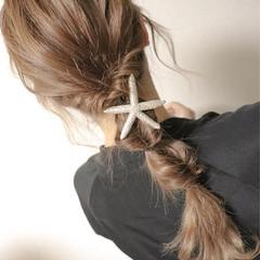簡単ヘアアレンジ ロング セミロング ナチュラル ヘアスタイルや髪型の写真・画像