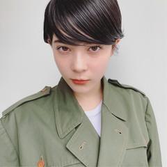 ハイトーン 外国人風 暗髪 大人かわいい ヘアスタイルや髪型の写真・画像