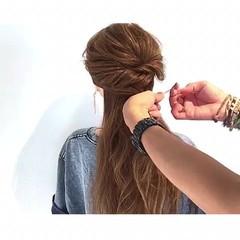 エレガント 夏 ロング 色気 ヘアスタイルや髪型の写真・画像
