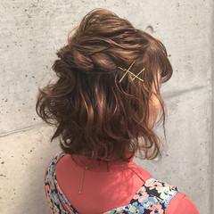 ヘアアレンジ 女子会 ガーリー 簡単ヘアアレンジ ヘアスタイルや髪型の写真・画像
