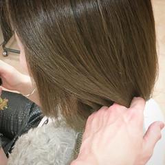 オリーブ ボブ カーキ 春ヘア ヘアスタイルや髪型の写真・画像