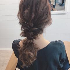 デート ヘアアレンジ ナチュラル ミディアム ヘアスタイルや髪型の写真・画像