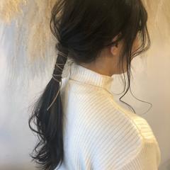 紐アレンジ ヘアアレンジ ロング ナチュラル ヘアスタイルや髪型の写真・画像