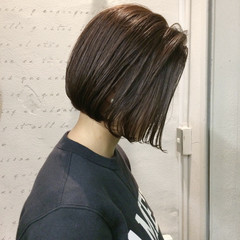 デート ナチュラル ボブ ウェットヘア ヘアスタイルや髪型の写真・画像
