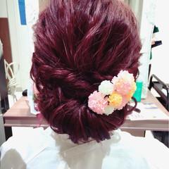 女子会 ガーリー ヘアアレンジ ロング ヘアスタイルや髪型の写真・画像
