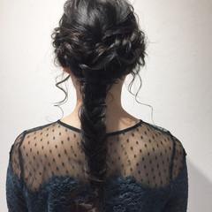 簡単ヘアアレンジ ナチュラル 結婚式 ロング ヘアスタイルや髪型の写真・画像