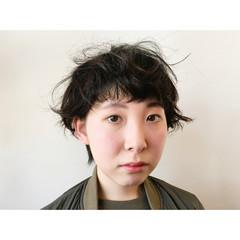 黒髪 ショート ヘアアレンジ 夏 ヘアスタイルや髪型の写真・画像