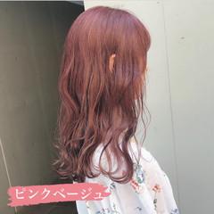 ロング ピンクアッシュ ピンクベージュ ラベンダーピンク ヘアスタイルや髪型の写真・画像