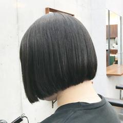 ショートボブ ストレート ショートヘア ミニボブ ヘアスタイルや髪型の写真・画像
