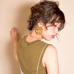 上品 ヘアアレンジ ボブ インナーカラー ヘアスタイルや髪型の写真・画像