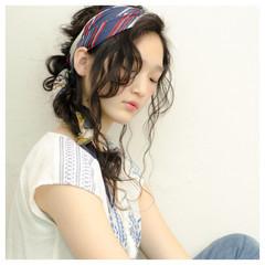 アンニュイ ロング ヘアアレンジ リラックス ヘアスタイルや髪型の写真・画像