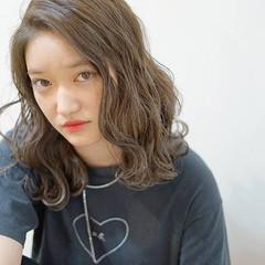 ストリート 外国人風 ロブ ハイライト ヘアスタイルや髪型の写真・画像
