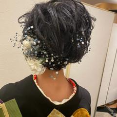 成人式 成人式ヘア ショートヘア 振袖ヘア ヘアスタイルや髪型の写真・画像