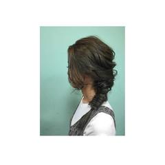 外国人風 ヘアアレンジ アッシュ セミロング ヘアスタイルや髪型の写真・画像
